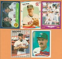 Wade Boggs, Boston Red Sox, 5 card LOT all 30+ yrs old, Near Mint or better