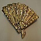 """VINTAGE MCCOY POTTERY USA 24K GOLD FINISHED POTTERY PLANTER FAN 8"""" X 8 3/4"""" NICE"""
