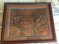 Copper Relief Fish Framed Art Native