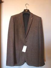 Farah Mens SKINNY Tweed Herringbone Blazer Jacket Size 38r Brown