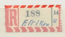 63999) Bund, Reco-Zettel Provisorium AKZ 14 hs u + El(?)rikon.. ??