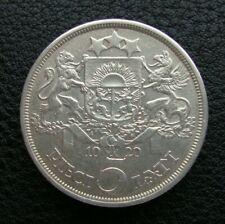 Latvia 5 Lati 1929 Silver Coin S4
