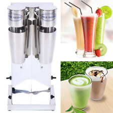 110V Commercial Stainless Steel Milk Shake Machine Dual Double Head Drink Mixer