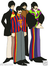 The Beatles Yellow Submarine Group Shot Window Cling Decal Sticker - New