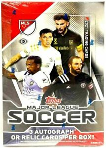2021 Topps MLS Soccer HOBBY BOX - Factory Sealed - From Fresh Case - 3 AUTOS PER