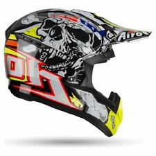 CASCO HELMET MOTO CROSS ENDURO AIROH SWITCH PIRATE NERO GIALLO FLUO TG L