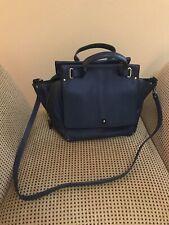 Jerome Dreyfuss Blue Leather Convertible Handbag/Shoulder Bag