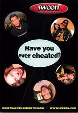 """Swoon Cheating Confess Dating Mating Chat Rooms Advertisement Postcard 6x4"""""""