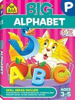 School Zone - Big Alphabet Workbook - Ages 3 to 5, Preschool to Kindergarten, Be