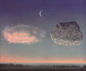 La Bataille de L'Argonne by Rene Magritte Art Print Rock Cloud Poster 19.75x27.5