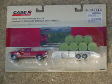 ERTL 1/64 DODGE RAM 2500 PICKUP AND GOOSENECK TRAILER WITH 11 BALES