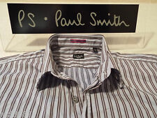 "PAUL SMITH Mens Shirt 🌍 Size 15"" (CHEST 40"") 🌎 RRP £95+ 🌏 SUPERBLY STRIPED!!!"