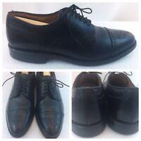 Allen Edmonds Sanford Cap Toe Oxfords Black Leather Mens Made In USA Size 8 D US