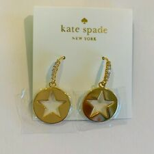 Kate Spade New York star Earrings,drop, dangle, Symbols Gold Crystal
