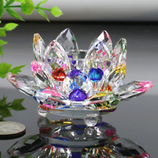 Tea Light Holder Candlestick Home Decor Gift Crystal Glass Lotus Flower Candle