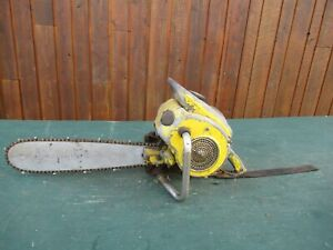 "Vintage McCULLOCH 3-25 Chainsaw Chain Saw with 18"" Bar"