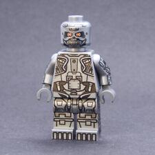 Custom minifigures Cyborg Killer Robot on lego bricks terminator