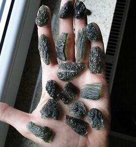 About 5g Powerful Real Green Tektite MOLDAVITE - 100% natural - Czech Republic