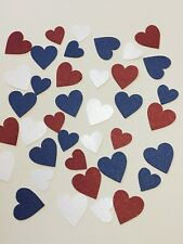Red White And Blue Hearts Table Confetti Party Birthday Baby & Wedding Fun Heart