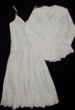 New VTG Lim's Longer Dress Jacket Hand Crochet Battenburg Lace Beach Portrait