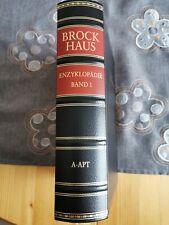 Brockhaus Enzyklopädie 24 Bände Farbe sw, oben vergoldet.