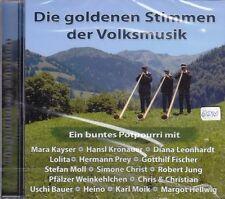 Die goldenen Stimmen der Volksmusik + CD + Ein buntes Potpourri mit 15 Lieder +