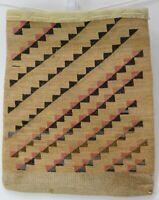 Antique Large Nez Perce Corn Husk Root Bag, c. 1900