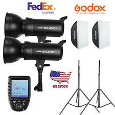 US Godox SK400II (2X400W) 800W Studio Flash Light & 2m Stand Softbox Trigger Kit