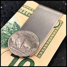 Credit Card Money Clip Wallet Buffalo Nickel Vintage Coin USA 5 Cents No Reserve
