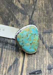Barse Luster Ring- Turquoise & Sterling Silver- 7- New With Tags