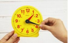 Toy Clock for Play Yellow Toy Clock with Color Coded Hands Educational Clock