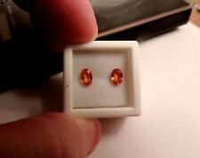 2pc Oval Shaped Natural Padparadascha Sapphires. Cut by me :) 1.30tcw