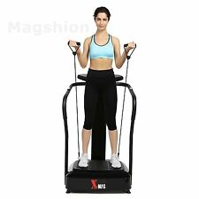 X-Mag Vibration Crazy Fit Machine Full Body Platform Plate 2000W Black W/Band x2