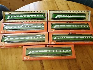 Rivarossi HO 2848 Burlington Northern Passenger Cars Set Of 7
