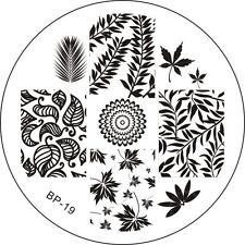 Stamping Schablone Stempel Blätter Zweige Ahornbatt Farne   BP-19