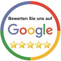 2 x Aufkleber · Bewerten Sie uns bei Google ·★★★★★ ·Google My Business