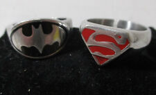 Batman & Superman Symbol Finger Rings