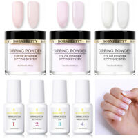 7 Bottles BORN PRETTY Nail Dipping Powder Liquid Kit No UV Need Long Lasting