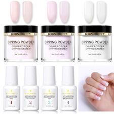 7 Bottles BORN PRETTY Nail Dipping Powder Liquid Kit No UV Need Long Lasting
