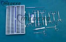 General Surgery 30 Pcs Set of Veterinary Animal Hospital & Surgical Instruments