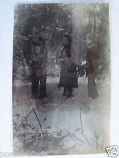 RPPC THREE DRESSED UP INDIAN, ANNIE OAKLEY D BOONE 1910s REAL AZO PHOTO POSTCARD