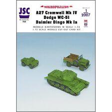 JSC 722-a26 Cromwell Mk IV, Dodge wc-51, Daimler Dingo Mk Ia 1:72