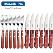 TRAMONTINA ® Churrasco JUMBO-Steakmesser-Gabel-Set 12tlg. Grillen BBQ Besteckset