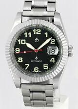OLLECH & WAJS O&W Military Swiss Auto Date Stainless Steel Mens Wrist Watch
