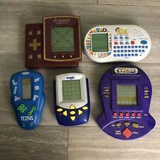 Lot Vintage Electronic Handheld Video Games Tetris Wheel Of Fortune Yahtzee More