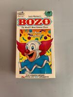 1991 Bozo The Clown Just Keep Laughing Cartoon Larry Harmon VHS Tape Cassette