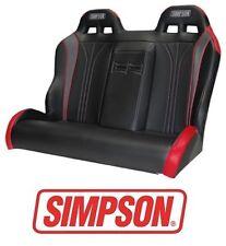 Simpson Vortex Rear Bench Seat - Black / Red 14-17 Polaris RZR XP 1000 & Turbo
