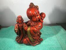 Universal Statuary Corp Oriental Asian Sculpture Figurine Mid Century Circa 1964
