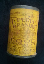 Old Advertising Tin Imperial Granum Food For Invalid Children Aged NOS Org Label