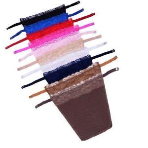 Secret Lace Clip-on Mock Camisole Bra Overlay Modesty Panel MetalButton